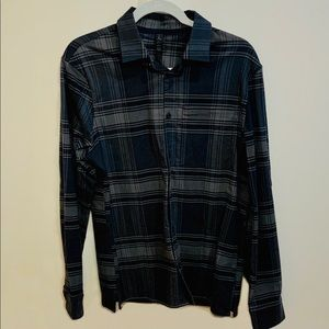 lululemon men's Grey/Black performance flannel